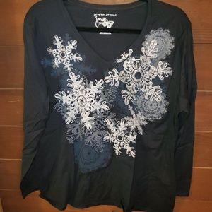 Just my size Snowflake long sleeve tee